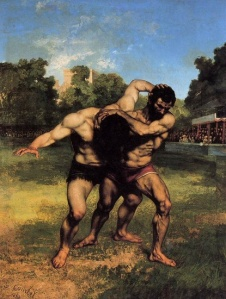 Gustave+Courbet+-+The+Wrestlers+